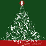 Дизайн рождественской елки Стоковое Изображение