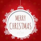 Дизайн рождественской открытки с снежинками Стоковые Изображения RF