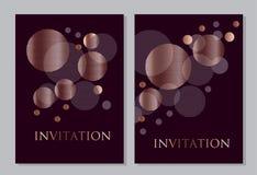 Дизайн розового золота и черного конспекта цвета геометрический Стоковые Фотографии RF