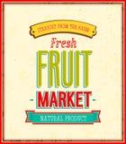 Дизайн рынка плодоовощ. Стоковые Фото