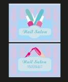 Дизайн салона ногтя визитных карточек Стоковое фото RF