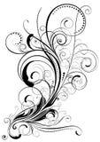 Дизайн свирли флористический Стоковые Фотографии RF