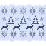 Дизайн свитера зимы - олень, снежинка Стоковые Изображения RF