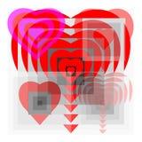 Дизайн сердец Стоковое Изображение