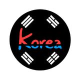 Дизайн символа Кореи Стоковое Изображение