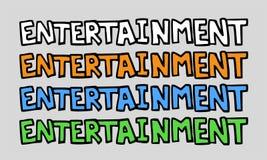 Дизайн символа развлечений Стоковые Фото