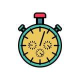 Дизайн символа секундомера плоский Обнаружьте изолированное устройство спорт времени иллюстрация вектора