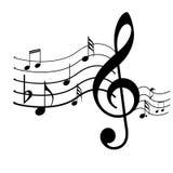 Дизайн символов музыки Стоковое Изображение RF
