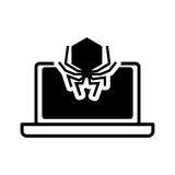 Дизайн системы безопасности компьтер-книжки иллюстрация вектора