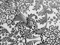 Дизайн скатерти черно-белый Стоковые Изображения RF