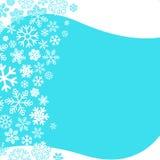 Дизайн снежинок конспекта предпосылки зимы Стоковое Изображение RF