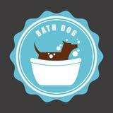 Дизайн собаки иллюстрация штока