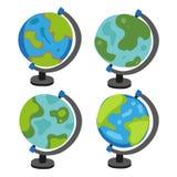 Дизайн собрания вектора глобуса имитаций иллюстрация вектора