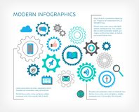 Дизайн современного вектора infographic Стоковая Фотография RF