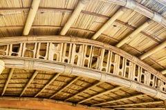 Дизайн соломенной крыши стоковая фотография