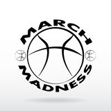 Дизайн спорта баскетбола сумасшествия в марте иллюстрация штока