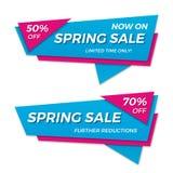 Дизайн стикера шаблона значка знамени ценника ярлыка продажи весны Стоковая Фотография RF