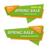 Дизайн стикера шаблона значка знамени ценника ярлыка продажи весны Стоковые Изображения RF