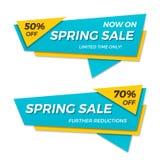 Дизайн стикера шаблона значка знамени ценника ярлыка продажи весны Стоковое Изображение RF