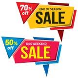 Дизайн стикера шаблона значка знамени ценника ярлыка продажи Стоковое Изображение