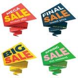 Дизайн стикера шаблона значка знамени ценника ярлыка продажи Стоковая Фотография