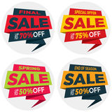 Дизайн стикера шаблона значка знамени ценника ярлыка продажи Стоковые Фотографии RF