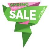 Дизайн стикера шаблона значка знамени ценника ярлыка продажи Стоковое Изображение RF