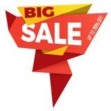 Дизайн стикера шаблона значка знамени ценника ярлыка продажи Стоковое Фото