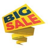 Дизайн стикера шаблона значка знамени ценника ярлыка продажи Стоковые Изображения