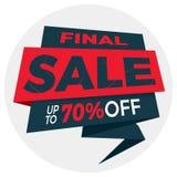 Дизайн стикера шаблона значка знамени ценника ярлыка продажи Стоковая Фотография RF
