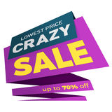 Дизайн стикера шаблона значка знамени ценника ярлыка продажи Стоковые Изображения RF