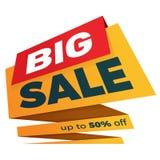 Дизайн стикера шаблона значка знамени ценника ярлыка продажи Стоковые Фото