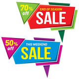 Дизайн стикера шаблона значка знамени ценника ярлыка продажи Vecto Стоковые Фотографии RF