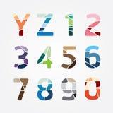 Дизайн стиля конспекта цвета алфавита современный также вектор иллюстрации притяжки corel иллюстрация штока