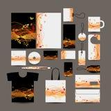 Дизайн стиля корпоративного бизнеса: папка, сумка, labe иллюстрация вектора