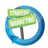 Дизайн стратегии и иллюстрации маркетинга Стоковое Фото