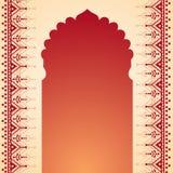 Дизайн строба виска хны Стоковое Фото