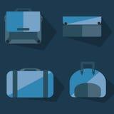 Дизайн сумок плоский Стоковые Изображения
