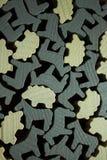 Дизайн с деревянными Figurines Shepp и лошади Стоковое Изображение RF