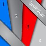 Дизайн с знаменами цвета, шаблон представления Стоковая Фотография RF