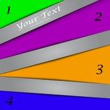 Дизайн с знаменами цвета, шаблон представления Стоковые Фотографии RF