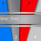 Дизайн с знаменами цвета, шаблон представления бесплатная иллюстрация