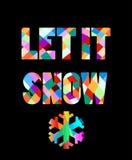 Дизайн текста Нового Года 2016 красочный с снежинкой Стоковое Изображение RF