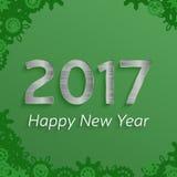 Дизайн текста Нового Года 2017 цифров счастливый Стоковое фото RF