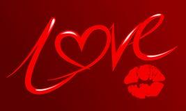 Дизайн текста характера влюбленности файлом вектора Стоковые Фото