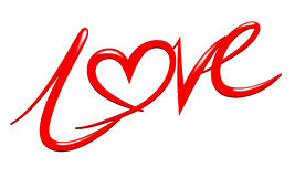 Дизайн текста характера влюбленности файлом вектора Стоковая Фотография