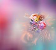 Дизайн текстуры картины цветка на безшовной ткани, ткани, backgrou Стоковые Фотографии RF