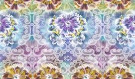 Дизайн текстуры картины цветка на безшовной ткани, ткани, backgrou Стоковая Фотография RF