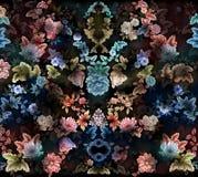 Дизайн текстуры картины цветка на безшовной ткани, ткани, backgrou Стоковое Изображение RF