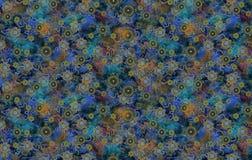 Дизайн текстуры картины цветка на безшовной ткани, ткани, backgrou Стоковая Фотография